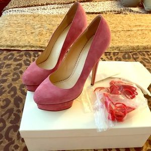 Charlotte Olympia Mauve Eternally Dolly Pumps